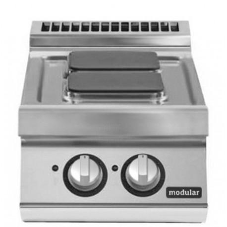Cocina eléctrica versión top 2 fuegos cuadrados