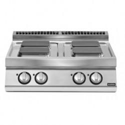 Cocinas eléctrica versión top 4 fuegos cuadrados