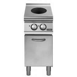 Cocina inducción sobre base con puerta 2 zonas de cocción Ø 220