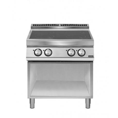 Cocina inducción sobre base con abierta 4 zonas de cocción Ø 220