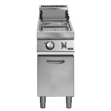 Cuece-pasta gas cuba 2/3 GN - 26 L - carga de agua con grifo manual