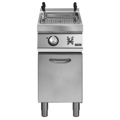 Cuece-pasta eléctrico cuba 2/3 GN - 26 L carga de agua con grifo manual