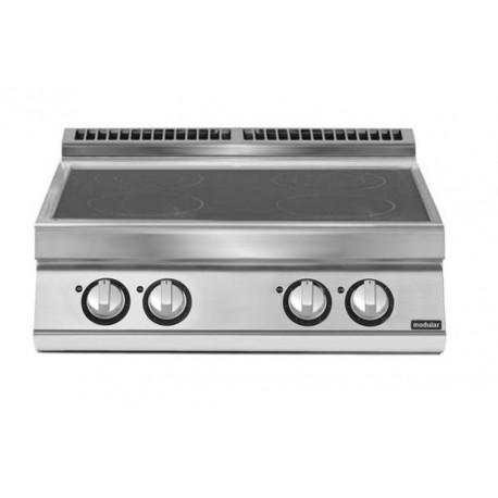 Cocina inducción versión top 4 zonas de cocción Ø 220