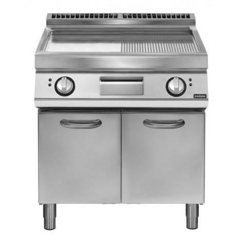 Fry top el ctrico plancha ondulada cromada sobre base con - Cocinas con plancha incorporada ...