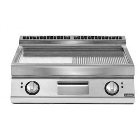 Fry top eléctrico plancha mixta cromada versión top 10,8 kW Total
