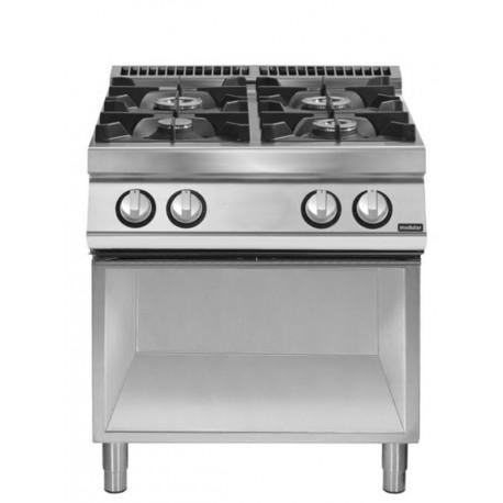 Cocina gas 4 fuegos sobre base abierta