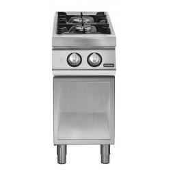 Cocina gas 2 fuegos sobre base abierta