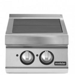Cocina eléctrica con 2 planchas basculantes versión top