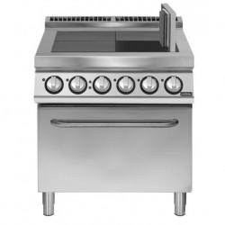 Cocina eléctrica 4 planchas basculantes con horno eléctrico convección GN 2/1