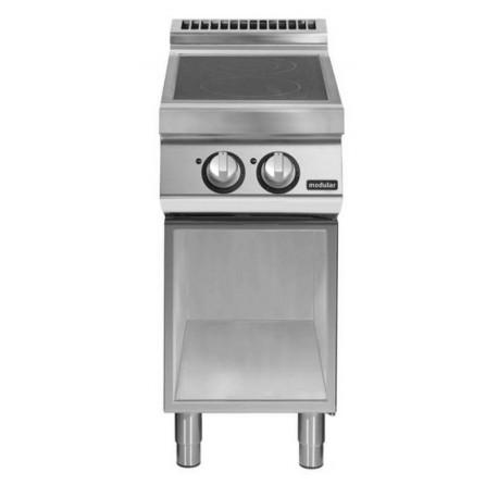 Cocina inducción sobre base abierta
