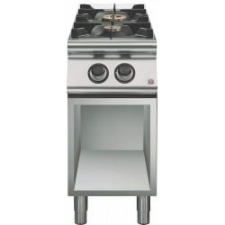 Cocina a gas sobre base abierta