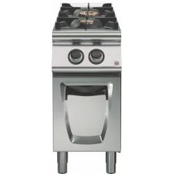 Cocina a gas sobre base con puerta