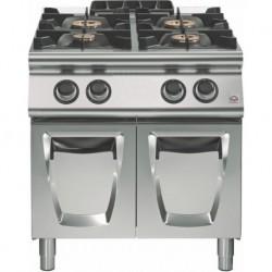 Cocina a gas sobre base con puertas