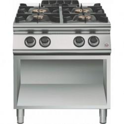 Cocina a gas 4 fuegos