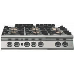 Cocina a gas 6 fuegos