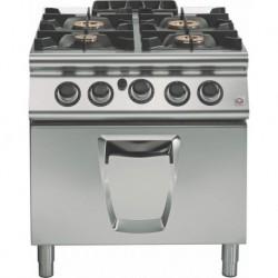 Cocina a gas 4 fuegos con horno gas GN 2/1