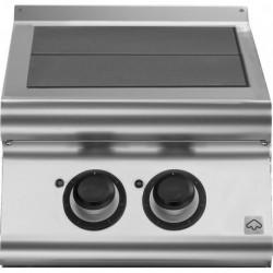 Cocina eléctrica con 2 planchas basculantes