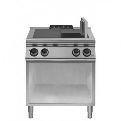Cocina eléctrica con 4 planchas basculantes sobre base abierta