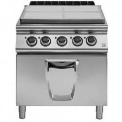 Placa radiante eléctrica 4 zonas de cocción con horno eléctrico GN 2/1