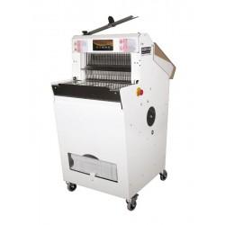 Cortadora de pan automática con base y zona de carga plana