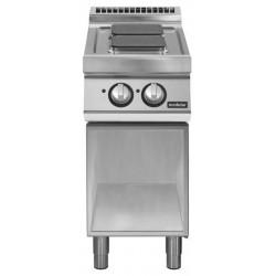Cocina eléctrica sobre base abierta 2 fuegos cuadrados