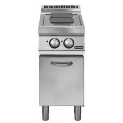Cocina eléctrica sobre base con puerta 2 fuegos cuadrados