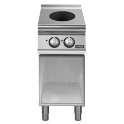Cocina inducción sobre base abierta 2 zonas de cocción Ø 220