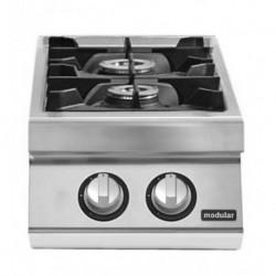Cocina gas 2 fuegos versión top