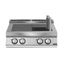 Cocina eléctrica con 4 planchas basculantes versión top